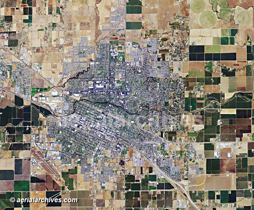 aerial map of Merced, California AHLV3012