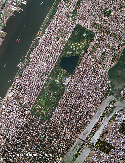 aerial map of  Manhattan, AHLV3028