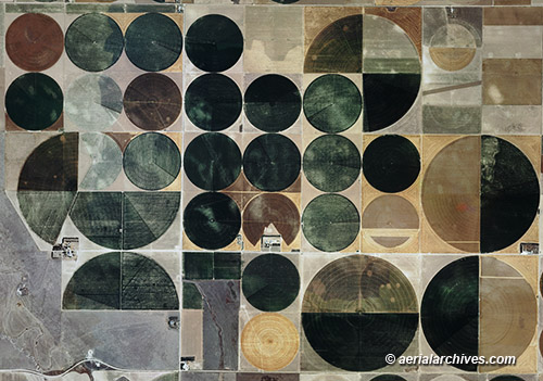 &copy aerialarchives.com  aerial map pivot irrigation circles, Kansas AHLB3209 BP2THN