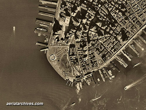 historical aerial photograph downtown New York City AHLV3267