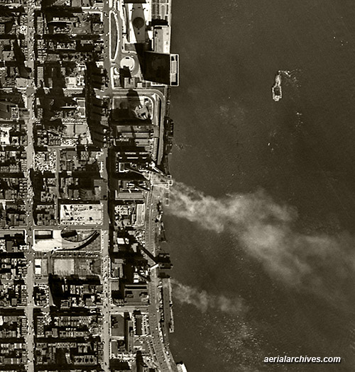 historical aerial photograph environmental New York City AHLV3273