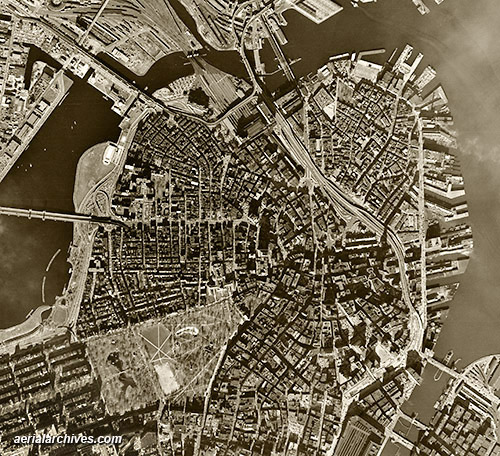 historical aerial photograph Boston Massachusetts AHLV3282