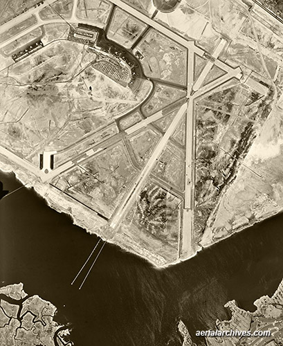 historical aerial photograph East River New York City AHLV3309