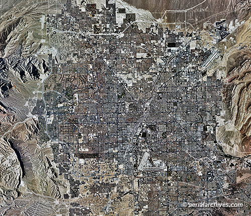 Aerial Photo Maps and Satellite Imagery of Las Vegas, Nevada