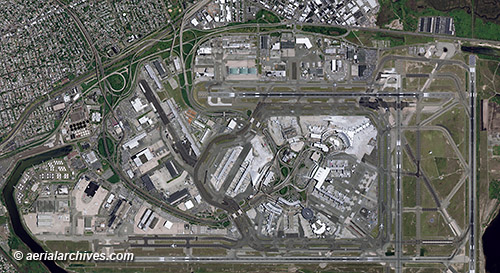 &copy aerialarchives.com JFK airport, Queens New York,  aerial photo map, AHLV3340