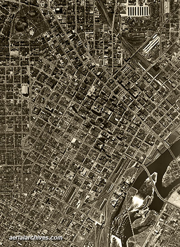 &copy aerialarchives.com  Minneapolis, Minnesota, historical aerial photography, AHLV3354