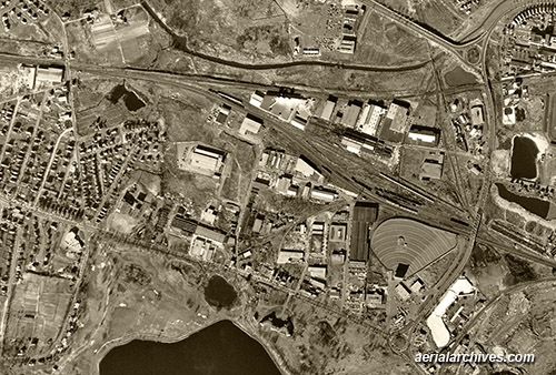 historical aerial photograph Cambridge Massachusetts AHLV3365