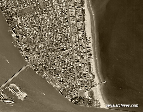 historical aerial photograph  South Miami Beach Florida AHLV3374
