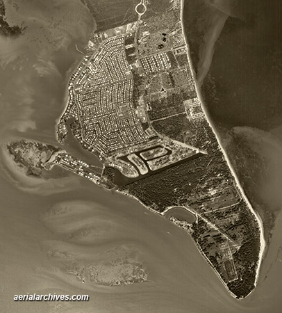 historical aerial photograph  Key Biscayne Florida AHLV3376