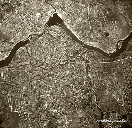 historical aerial photograph Lowell Massachusetts AHLV3381