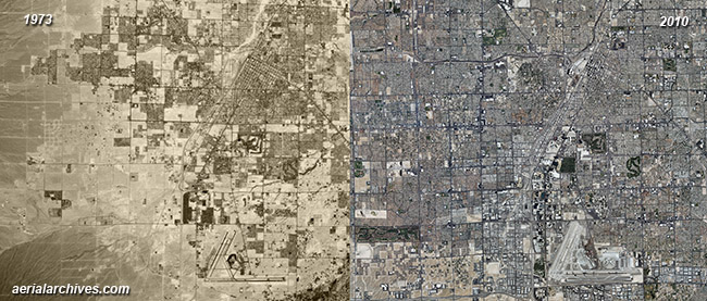 historical aerial photography change comparison  Las Vegas, Clark County Nevada AHLV3391