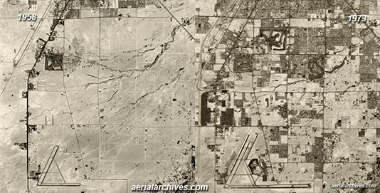 historical aerial photography change comparison  Las Vegas, Clark County Nevada AHLV3392