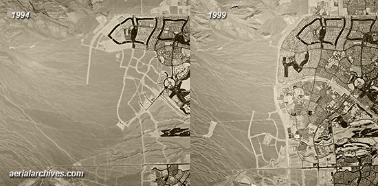 historical aerial photography change comparison  Summerlin, Las Vegas, Clark County Nevada AHLV3392