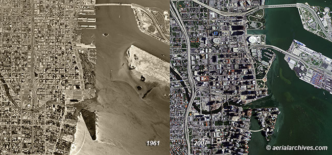 historical aerial photography change comparison  Miami, Miami Dade County Florida AHLV3404