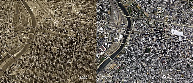 historical aerial photography change comparison  Philadelphia AHLV3413