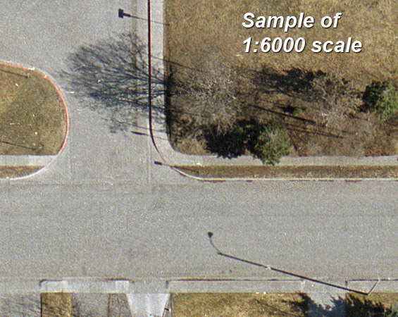 aerial photography 1:6000 color film scale sample