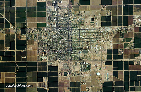&copy aerialarchives.com, El Centro, California, Imperial county,  aerial photograph AHLV3453
