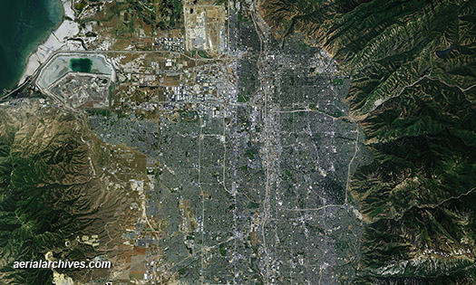 &copy aerialarchives.com aerial photo map Salt Lake City