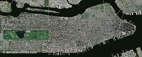 Aerial Maps And Satellite Imagery Of Manhattan New York City