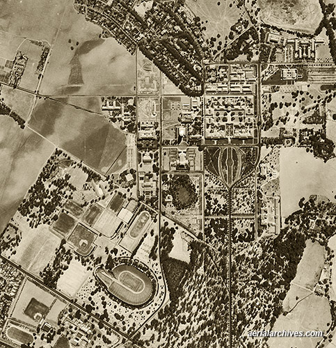 historical aerial photograph Stanford University AHLV3513