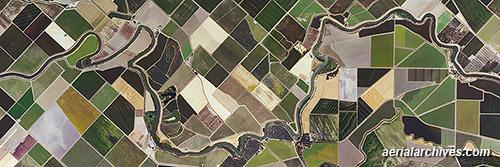 aerial photo Sacramento delta agriculture