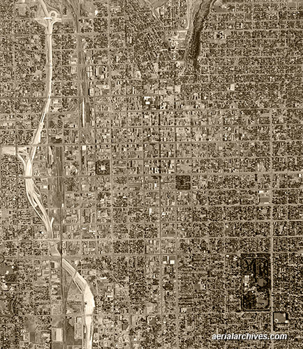 &copy aerialarchives.com Salt Lake City, Utah historical aerial photograph, AHLV3952