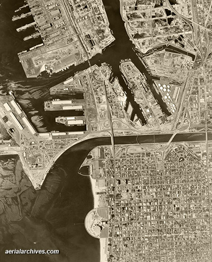 &copy aerialarchives.com historical aerial Long Beach  AHLV3964