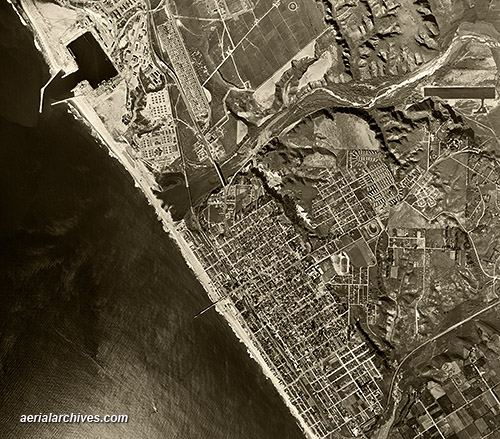 historical aerial photograph Oceanside California AHLV4117