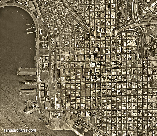 San francisco historical aerial photos - kali linux android image button