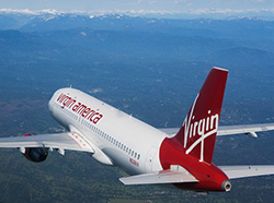 © aerialarchives.com,  aerial photograph Virgin America Airlines, AHLB3842